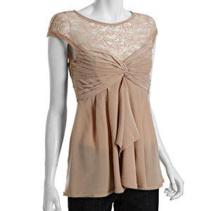5/15$ BCBGMaxazria Silk 'Shelly' Lace Draped top